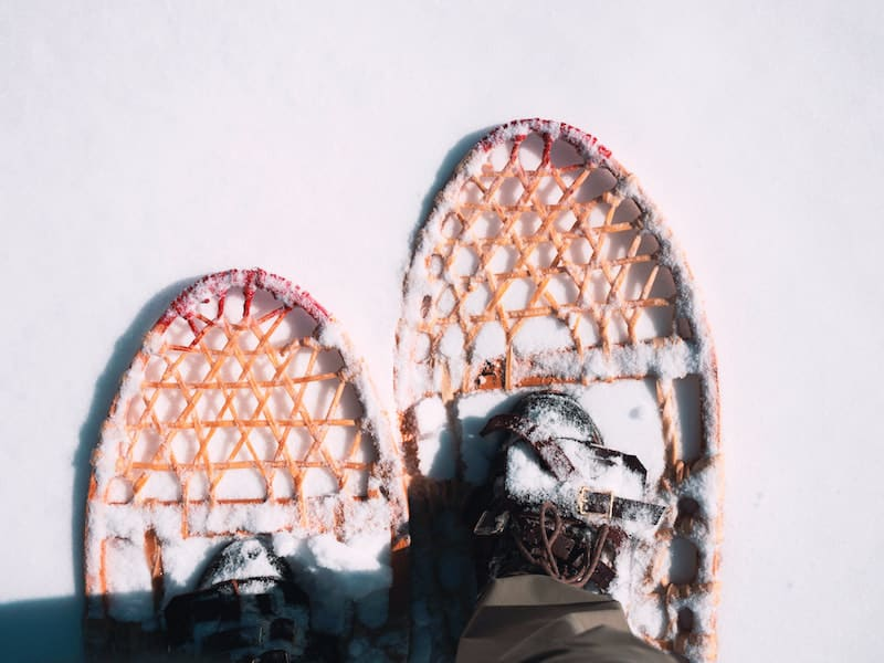 hunting boots snow shoes